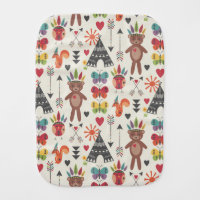 Little Indians Burp Cloth
