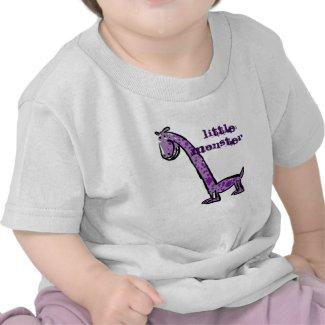 Little monster, big monster cartoon dinosaurs shirts