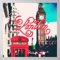 London Landmark Vintage Photo Poster