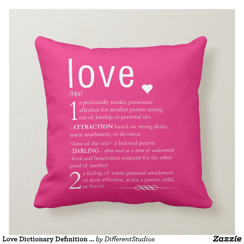 Love Dictionary Cushion