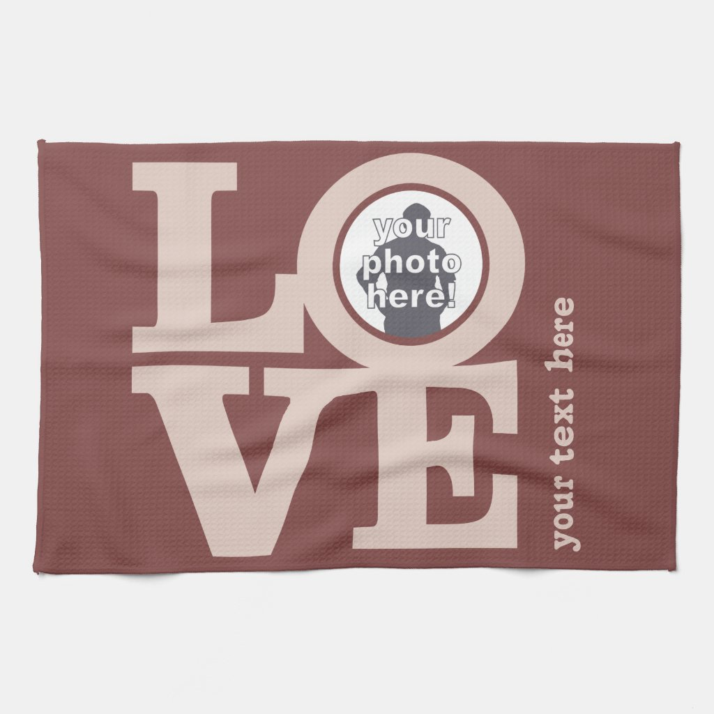 LOVE with YOUR PHOTO custom hand towel