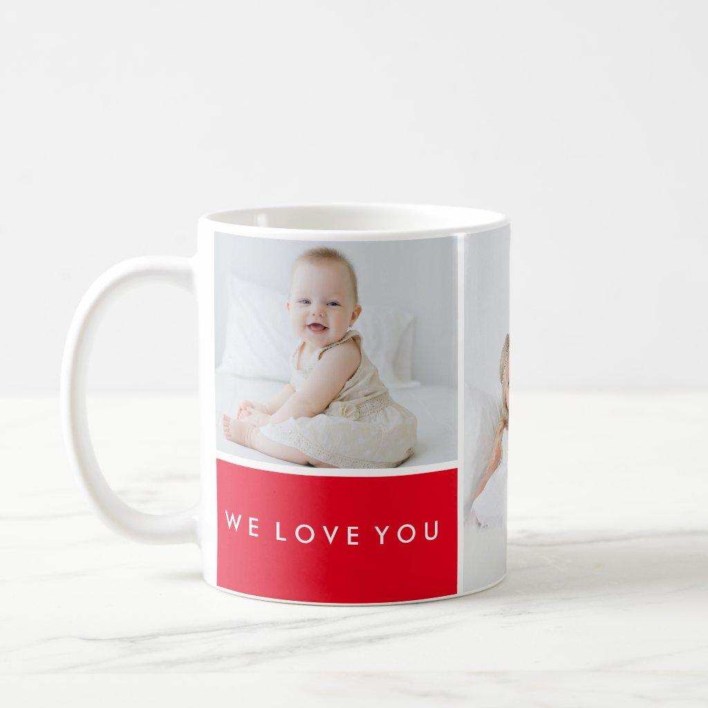 Love You Photo Collage Mug