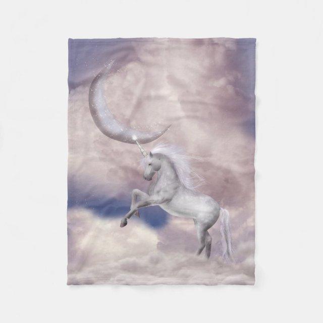 Magic Moon Unicorn Small Fleece Blanket