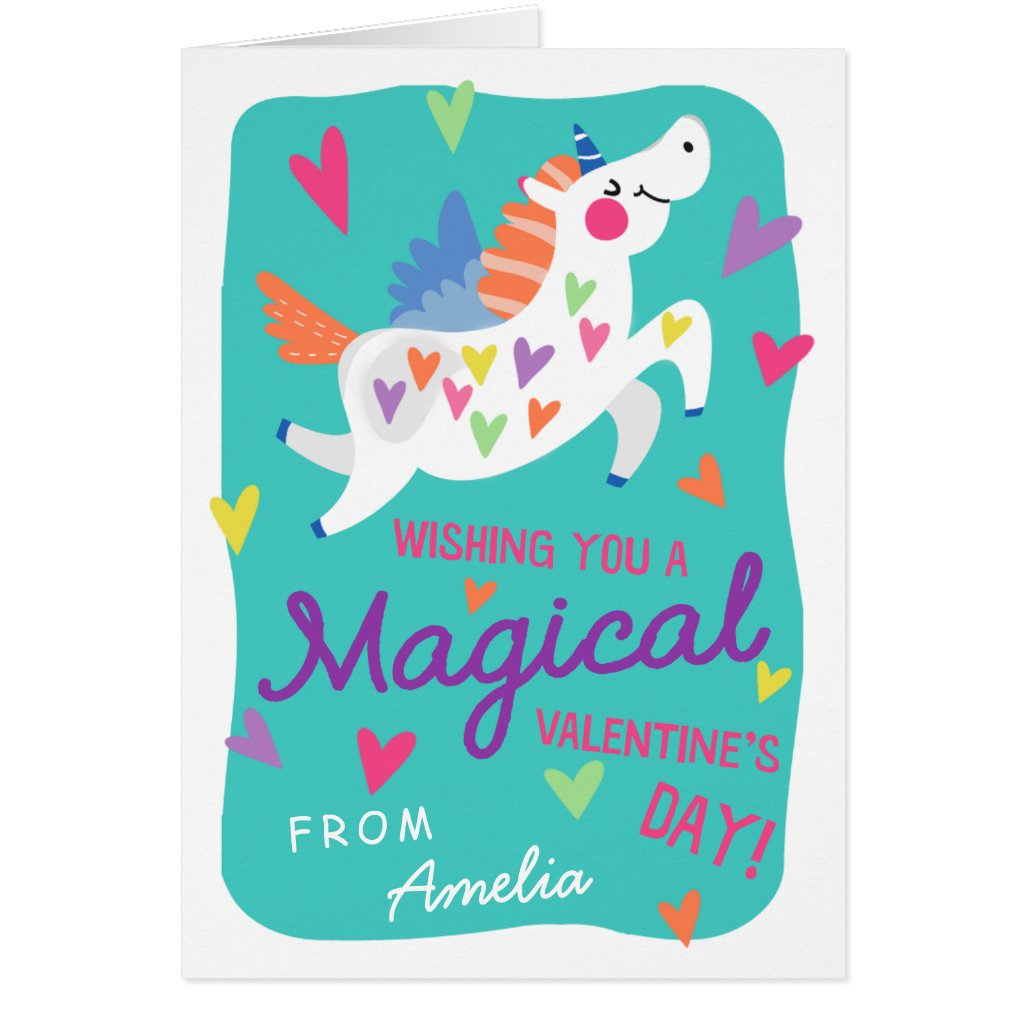 Magical Unicorn Valentines Card