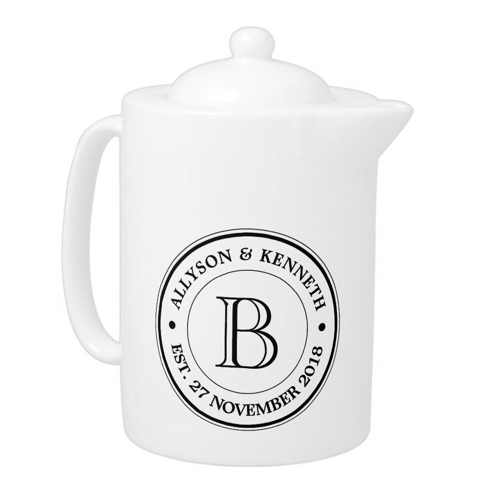 Make Your Own Burlap Retro Logo Monogram Tea Pot