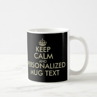 Make your own Keep calm coffee mug