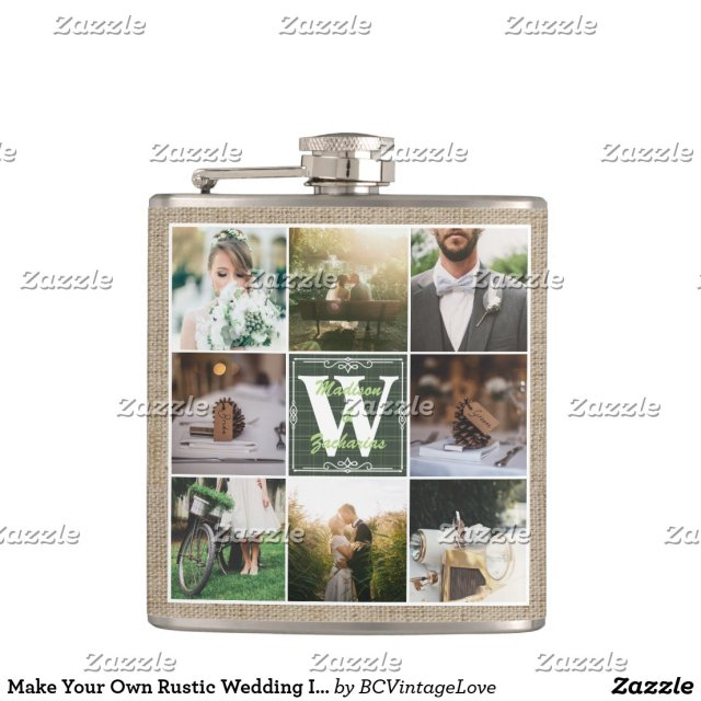 Make Your Own Rustic Wedding Hip Flask