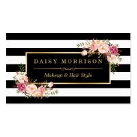 Beauty business cards personalised business cards makeup artist beauty salon gold vintage floral business card reheart Choice Image