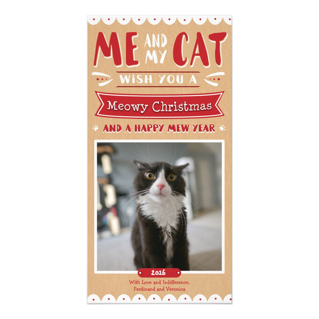Me and My Cat Christmas Photocard