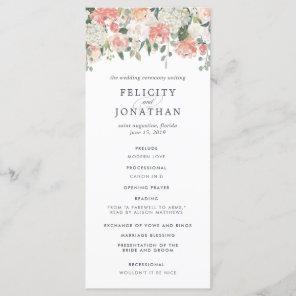 Midsummer Floral Wedding Ceremony Program Programme