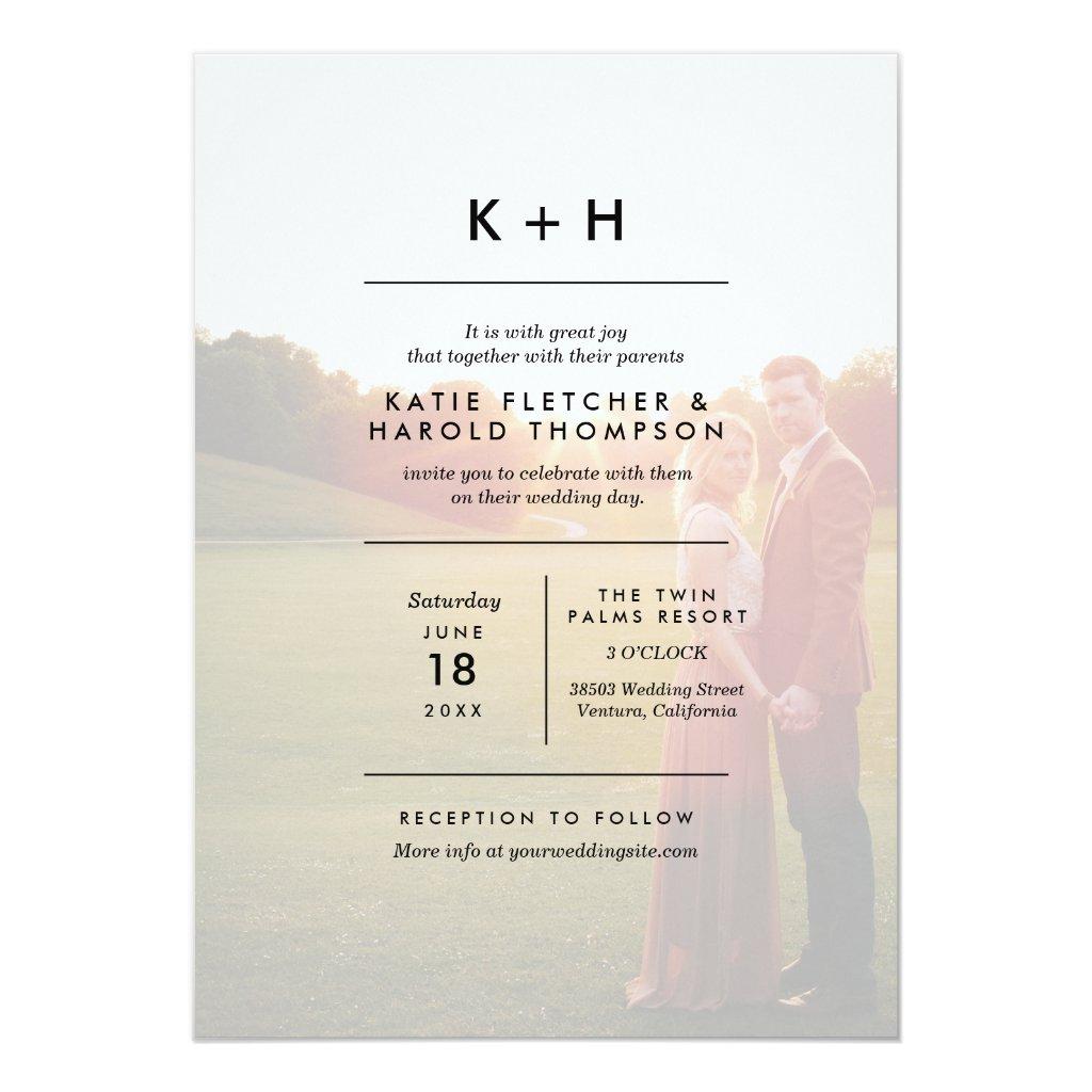 Minimalist Photo Wedding