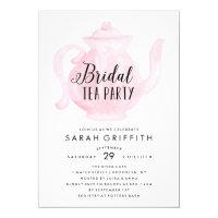 Mod Bridal Shower Tea Party Pink Invitation