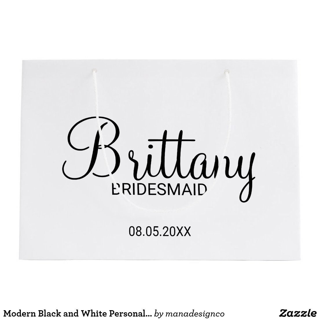 Personalised Bridesmaids Gift Bag