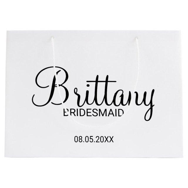 Personalised Bridesmaids Gift Bag