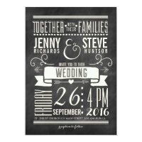 MODERN CHALKBOARD WEDDING INVITATION