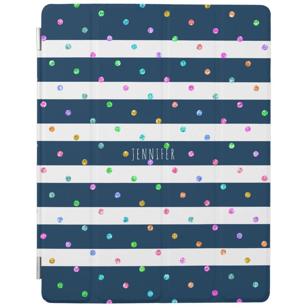 Modern Colourful Glitter Dots iPad Case