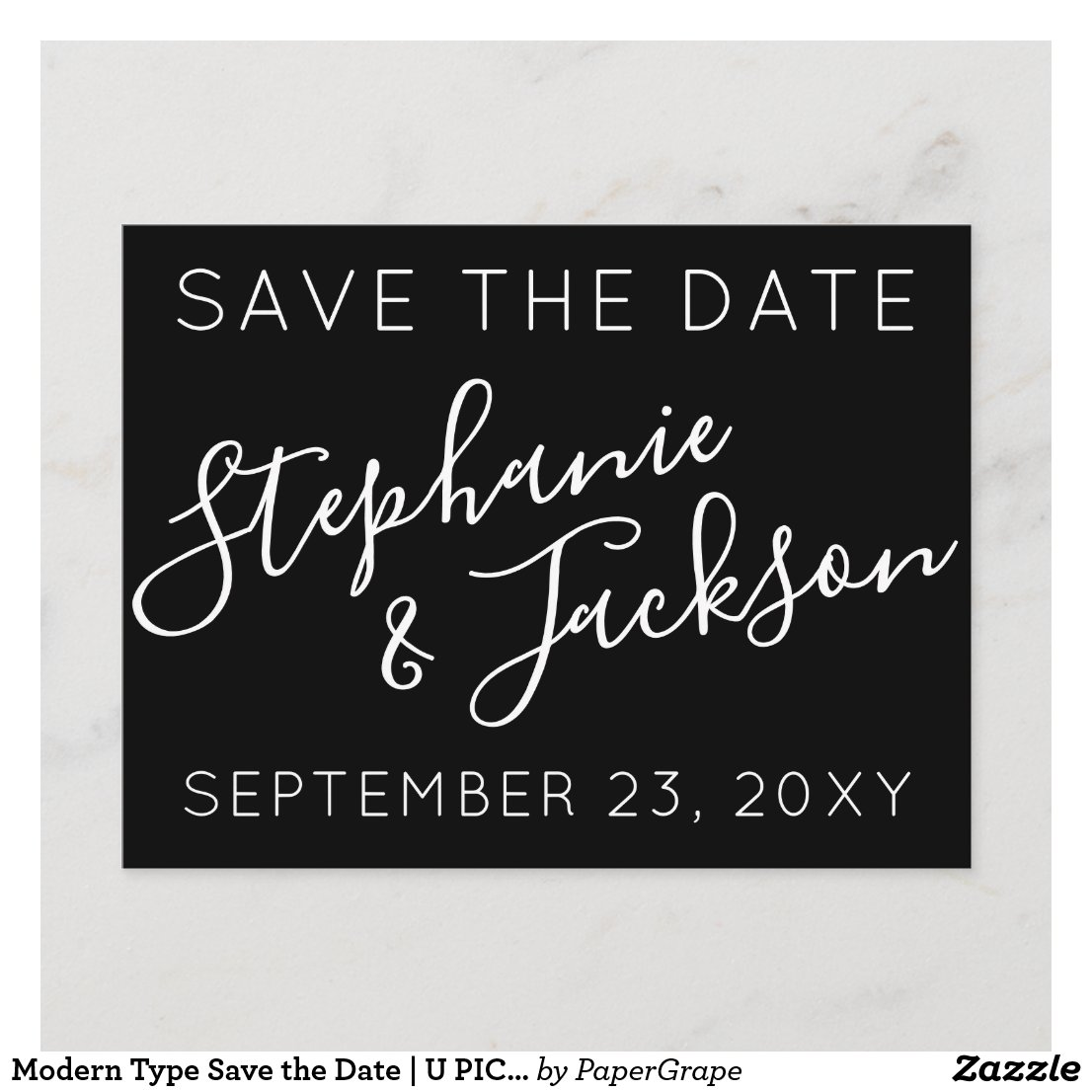 Modern Type Save the Date | U PICK COLOR Announcement Postcard