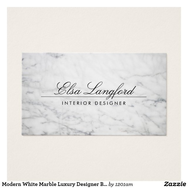 Modern White Marble Luxury Designer Business Card
