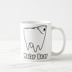Molar Bear Polar Tooth Bear Coffee Mug