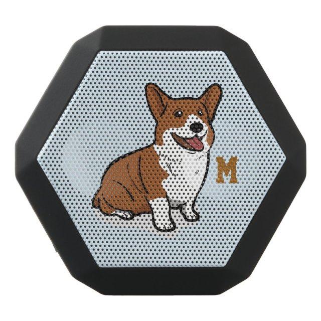 Monogram. Funny Cute Little Puppy Dog. Corgi Speaker