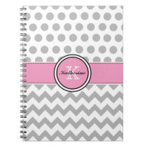 Monogram Chevron Notebook