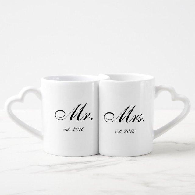 Mr & Mrs Personalised Mug Set