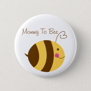 Mummy To Bee Baby Shower Button