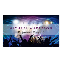 Music DJ Party Concert Planner - Modern Stylish Business Card