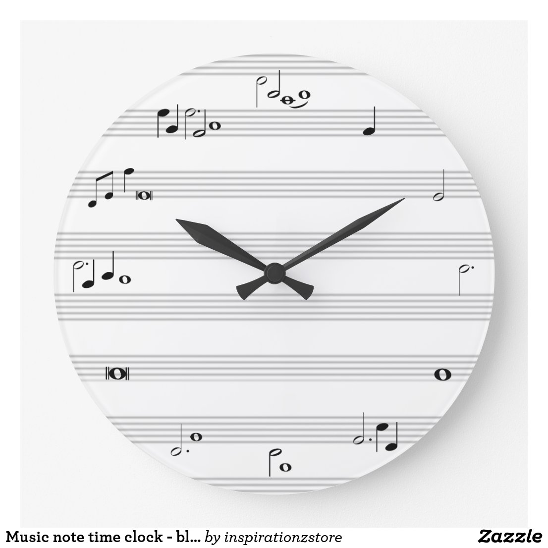 Music note time clock