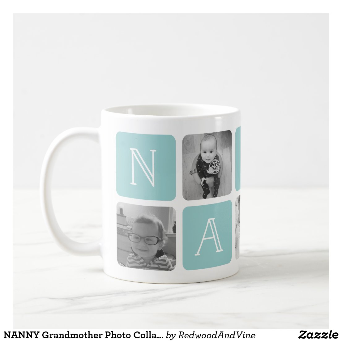NANNY Grandmother Photo Collage Coffee Mug