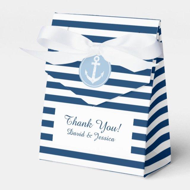 Nautical wedding favour box