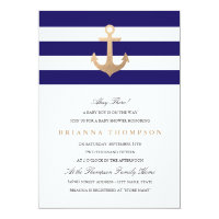 Nautical Navy Baby Shower Card