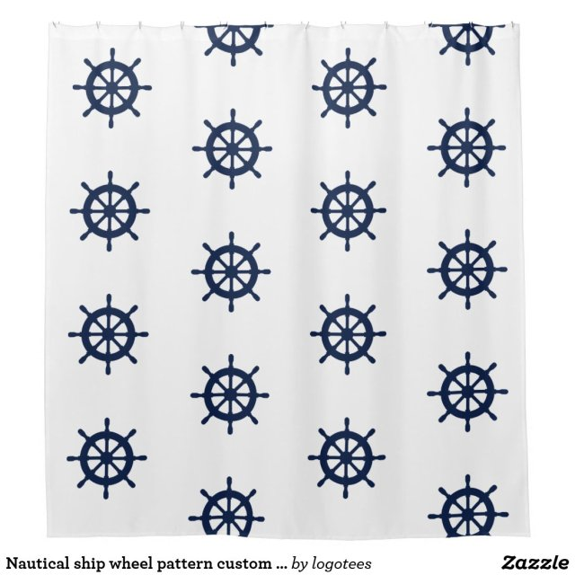 Nautical shower curtain
