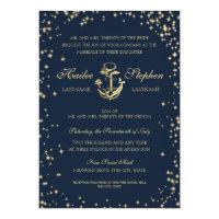 Nautical Starry Sky Wedding Card