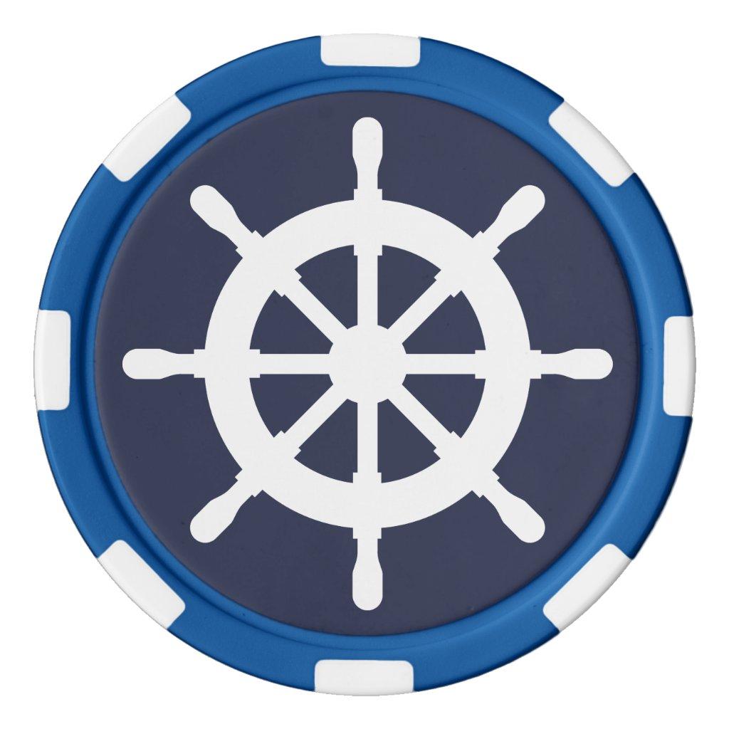 Nautical Poker Chips