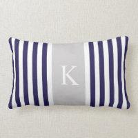 Stripes Monogram Pillows