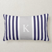 Stripes Monogram Pillows