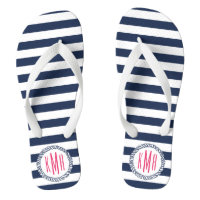 Nautical Stripe Flip Flops