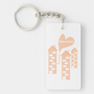 New Home love heart illustration of flats on key-r