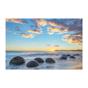 New Zealand, South Island, Moeraki Boulders Canvas Print