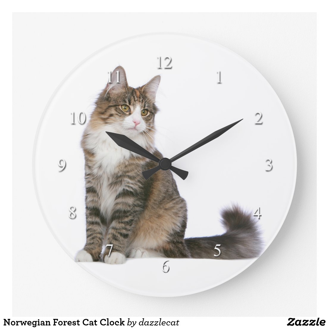Norwegian Forest Cat Clock