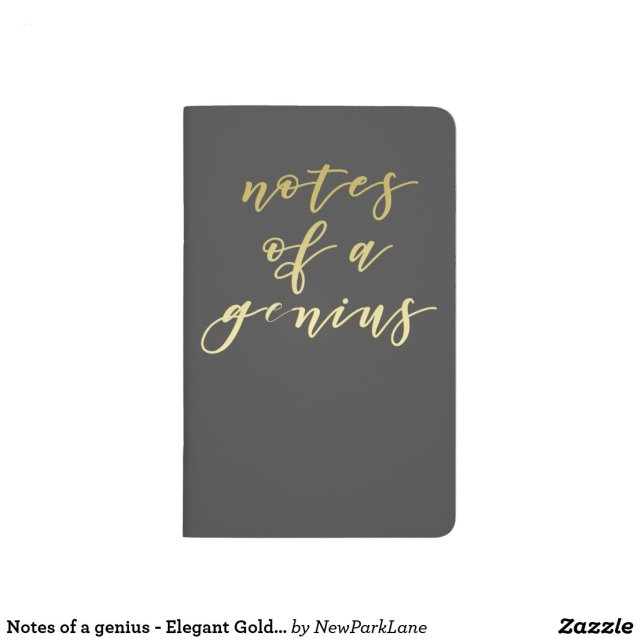 Notes of a genius - Gold Script Typography Journal