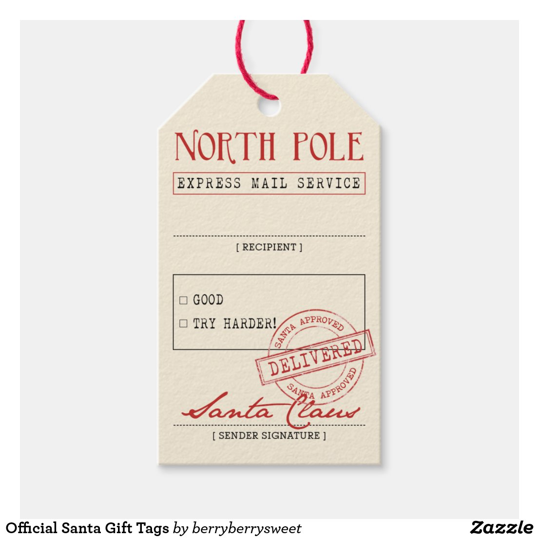 Official Santa Gift Tags