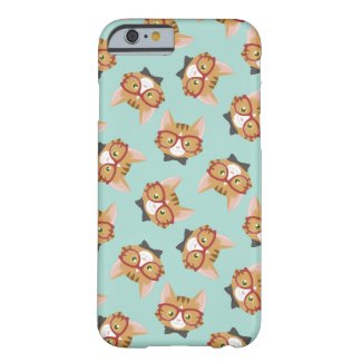 Hipster Cat Pattern iPhone Case