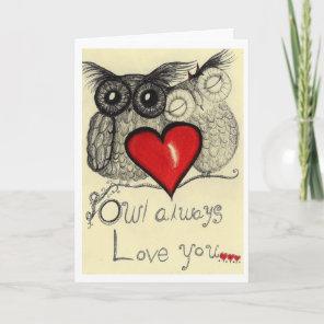 Owl Always love you... card