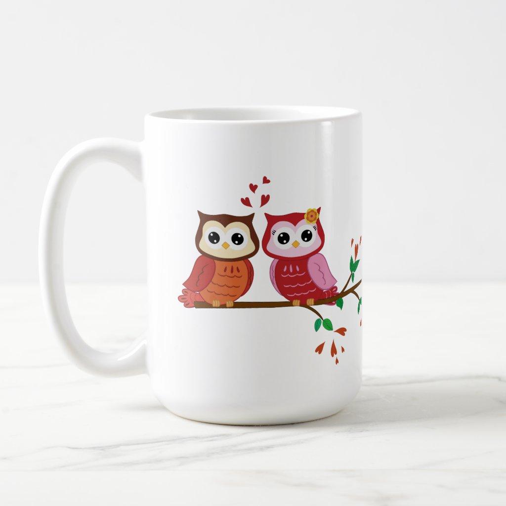 Owl Valentine's Mug