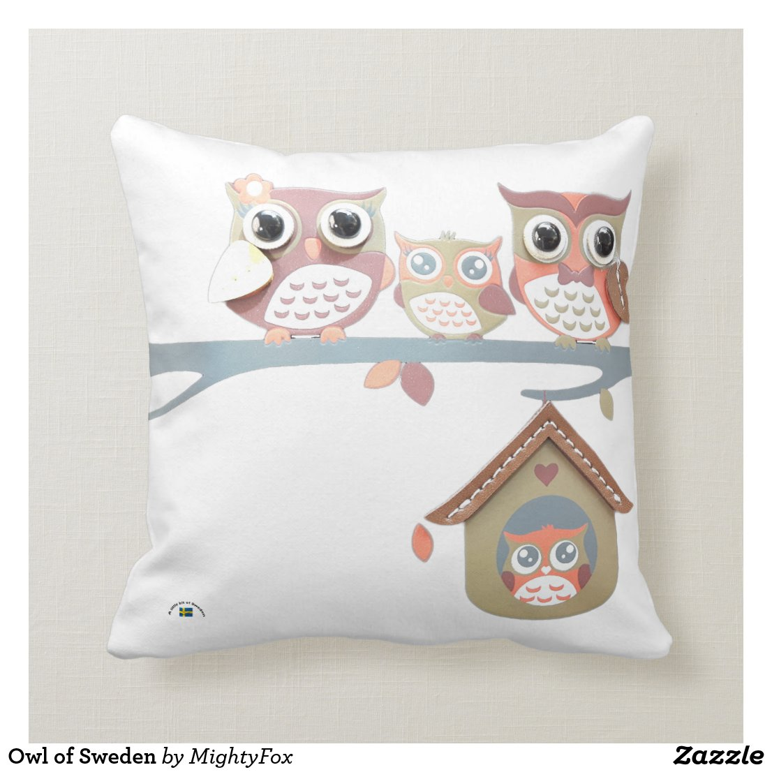 Owl of Sweden Cushion