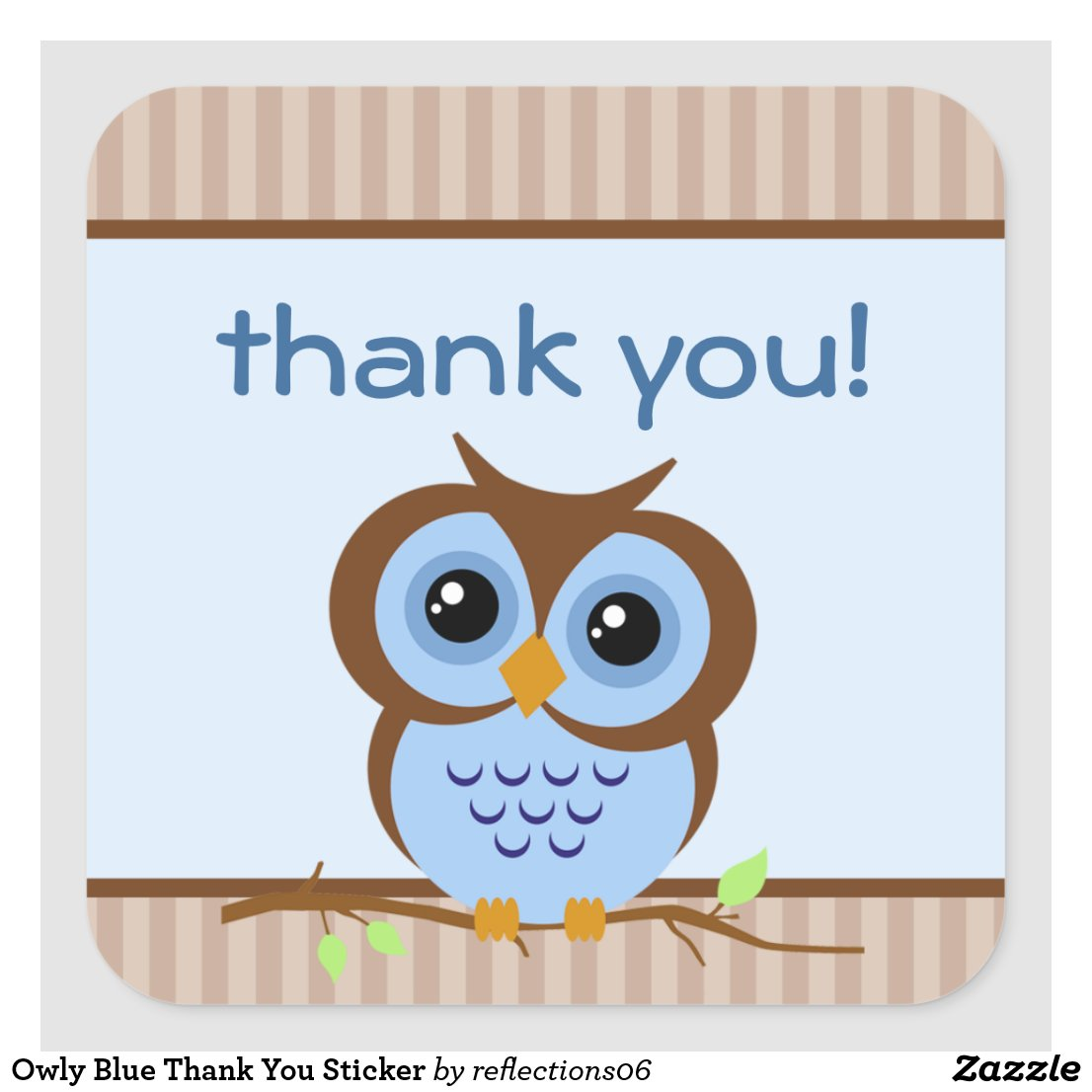 Owl Thank You Sticker