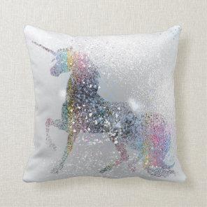 Paint Splash Unicorn Cushion