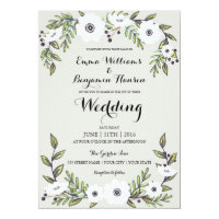 Painted Anemones - floral wedding invitation